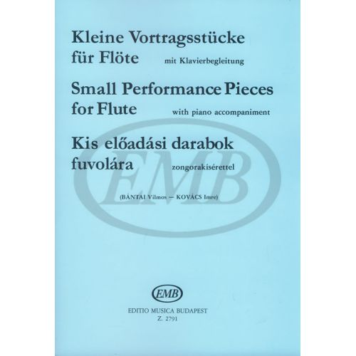 EMB (EDITIO MUSICA BUDAPEST) SMALL PERFORMANCE PIECES - FLUTE ET PIANO