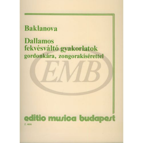 EMB (EDITIO MUSICA BUDAPEST) BAKLANOVA - DALLAMOS FEKVESVALTO GYAKORLATOK - VIOLONCELLE ET PIANO