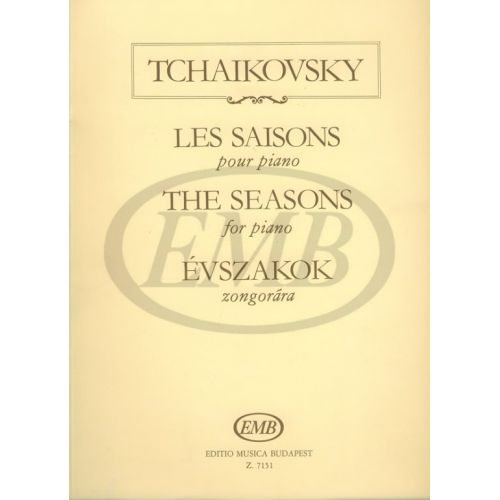 EMB (EDITIO MUSICA BUDAPEST) TCHAIKOVSKY P.I. - THE SEASONS OP.37/B - PIANO SOLO
