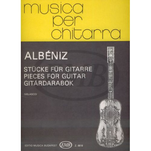 EMB (EDITIO MUSICA BUDAPEST) ALBENIZ - PIECES POUR GUITARE