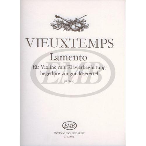 EMB (EDITIO MUSICA BUDAPEST) VIEUXTEMPS - LAMENTO OP.48 N 18 - VIOLON ET PIANO