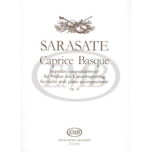 EMB (EDITIO MUSICA BUDAPEST) SARASATE - CAPRICE BASQUE OP.24 - VIOLIN AND PIANO