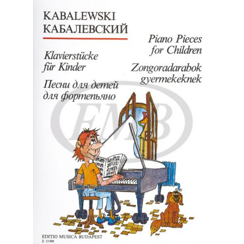 EMB (EDITIO MUSICA BUDAPEST) KABALEVSZKIJ - PIANO PIECES FOR CHILDREN - PIANO SOLO