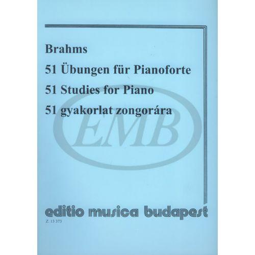 EMB (EDITIO MUSICA BUDAPEST) BRAHMS - 51 STUDIES - PIANO SOLO