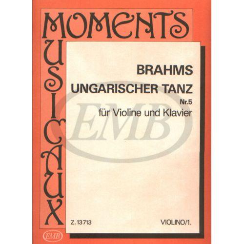EMB (EDITIO MUSICA BUDAPEST) BRAHMS J. - UNGARISCHER TANZ N 5 - VIOLON ET PIANO