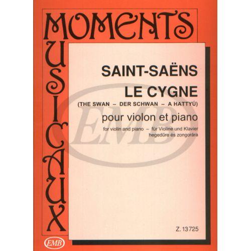 EMB (EDITIO MUSICA BUDAPEST) SAINT SAENS C. - THE SWAN - VIOLON ET PIANO