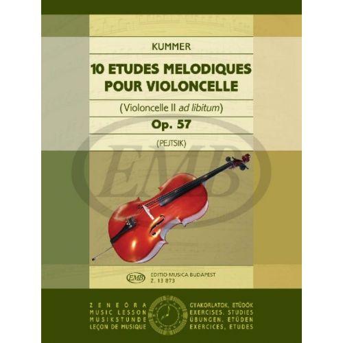 EMB (EDITIO MUSICA BUDAPEST) KUMMER - 10 ETUDES MELODIQUES OP.57 - VIOLONCELLE