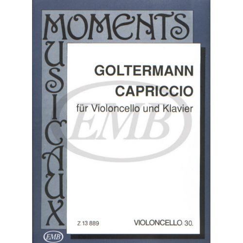 EMB (EDITIO MUSICA BUDAPEST) GOLTERMANN - CAPRICCIO - VIOLONCELLE ET PIANO