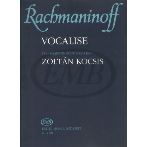 EMB (EDITIO MUSICA BUDAPEST) RACHMANINOV S. - VOCALISE OP. 34 N. 14 - PIANO
