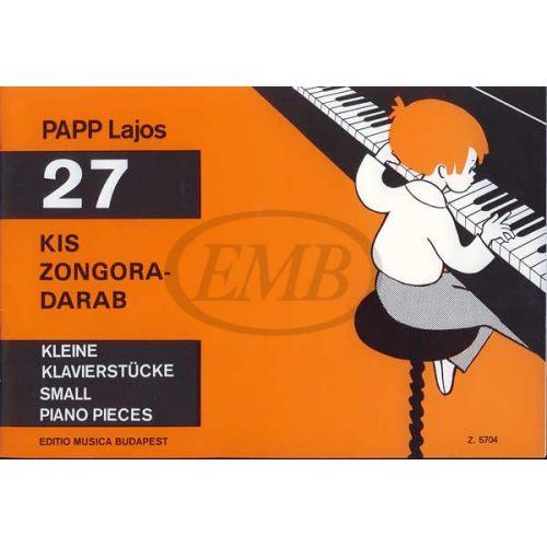 EMB (EDITIO MUSICA BUDAPEST) PAPP L. - PEZZI FACILI (27) - PIANO
