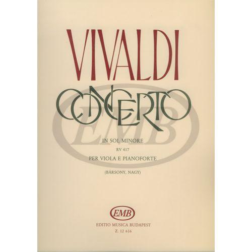 EMB (EDITIO MUSICA BUDAPEST) VIVALDI A. - CONCERTO IN SOL MINORE - ALTO ET PIANO