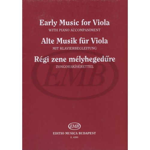 EMB (EDITIO MUSICA BUDAPEST) OLD - MUSIC FOR VIOLA - ALTO ET PIANO