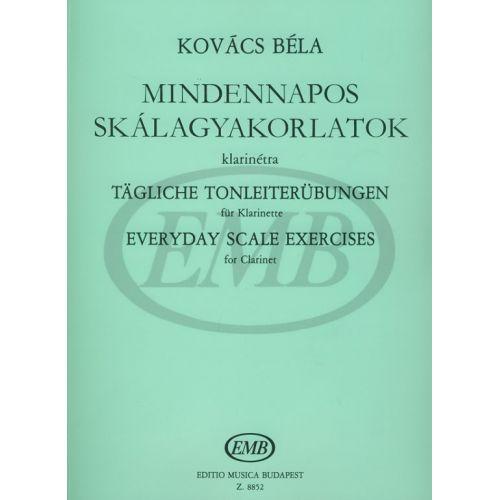 EMB (EDITIO MUSICA BUDAPEST) KOVACS B. - EVERYDAY SCALE EXERCISES - CLARINET