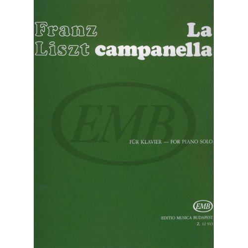 EMB (EDITIO MUSICA BUDAPEST) LISZT F. - CAMPANELLA - PIANO