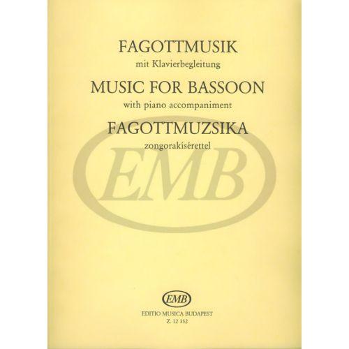 EMB (EDITIO MUSICA BUDAPEST) PEZZI PER FAGOTTO E PIANO