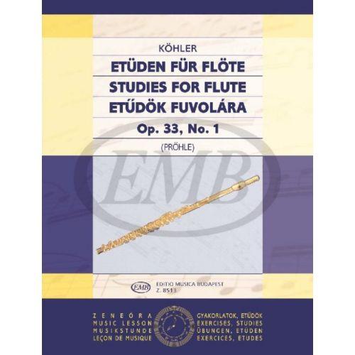 EMB (EDITIO MUSICA BUDAPEST) KOEHLER E. - STUDI OP. 33 VOL. 1 - FLUTE