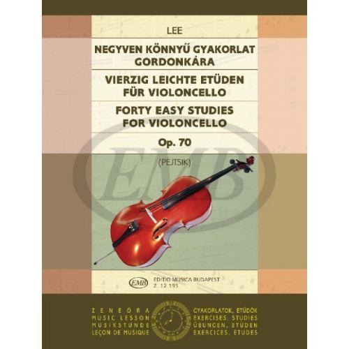 EMB (EDITIO MUSICA BUDAPEST) LEE - 40 EASY STUDIES OP.70 - VIOLONCELLE