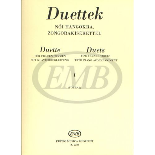 EMB (EDITIO MUSICA BUDAPEST) DUETS FOR FEMALE VOICES VOL 1 - CHANT ET PIANO