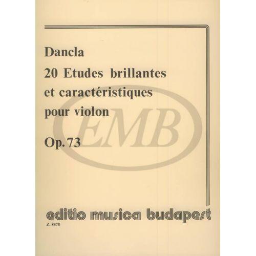 EMB (EDITIO MUSICA BUDAPEST) DANCLA C. - STUDI BRILLANTI (20) OP. 73 - VIOLON