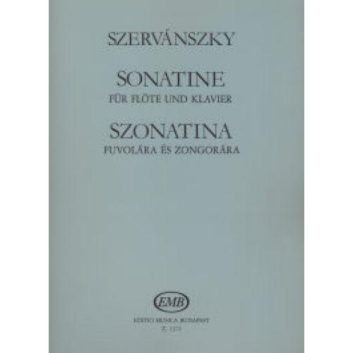 EMB (EDITIO MUSICA BUDAPEST) SZERVANSZKY E. - SONATINA - FLUTE ET PIANO