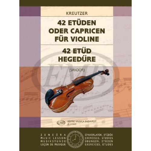 EMB (EDITIO MUSICA BUDAPEST) KREUTZER R. - STUDI O CAPRICCI (42) - VIOLON