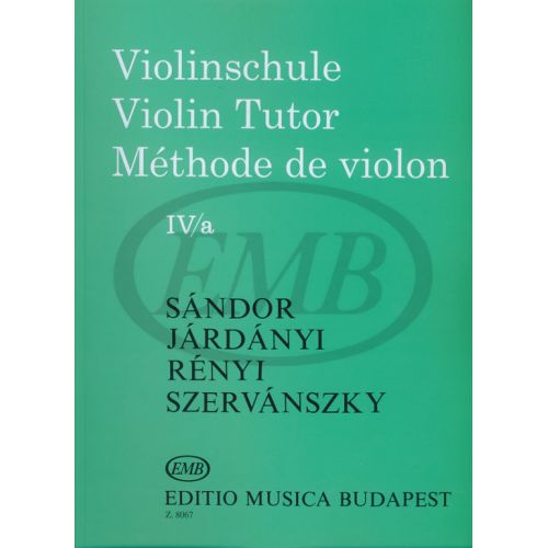 EMB (EDITIO MUSICA BUDAPEST) VIOLIN TUTOR VOL. 4A - VIOLON