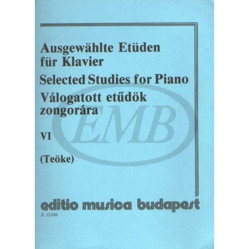 EMB (EDITIO MUSICA BUDAPEST) TEOKE M. - STUDI SCELTI VOL. 6 - PIANO