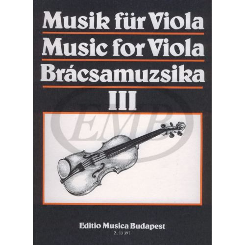EMB (EDITIO MUSICA BUDAPEST) MUSICA PER VIOLA VOL. 3 - ALTO