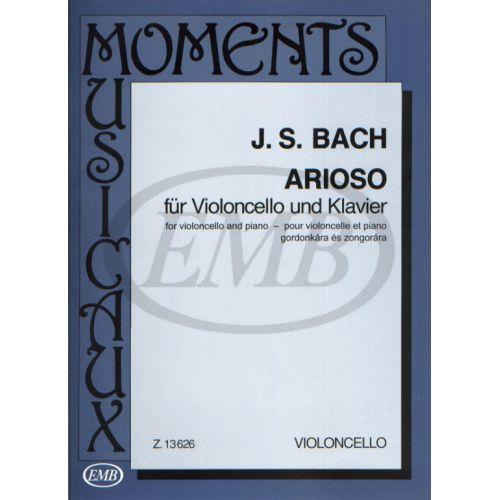 EMB (EDITIO MUSICA BUDAPEST) BACH J.S. - ARIOSO - CELLO AND PIANO