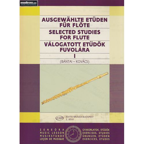 EMB (EDITIO MUSICA BUDAPEST) BANTAI / KOVACS - SELECTED STUDIES FOR FLUTE VOL.1