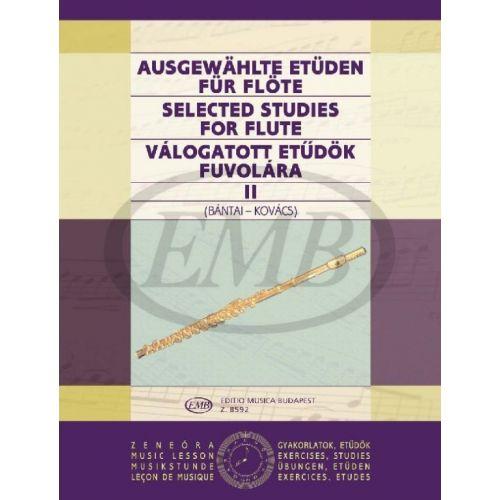 EMB (EDITIO MUSICA BUDAPEST) BANTAI-KOVACS - SELECTED STUDIES VOL.2 - FLUTE