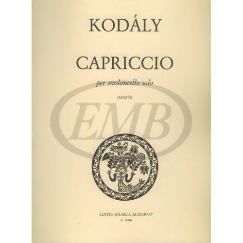 EMB (EDITIO MUSICA BUDAPEST) KODALY Z. - CAPRICCIO (MEZO) - VIOLONCELLE