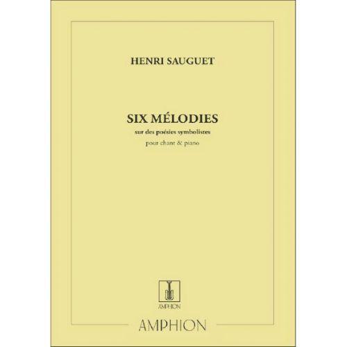 AMPHION EDITIONS SAUGUET - 6 MELODIES - CHANT ET PIANO