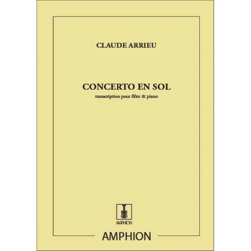 AMPHION EDITIONS ARRIEU - CONCERTO EN SOL - FLUTE ET PIANO