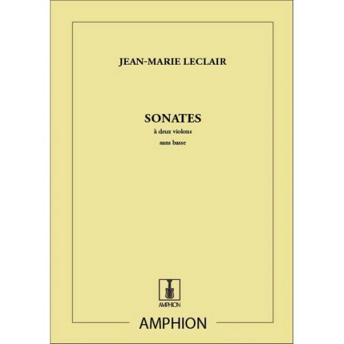AMPHION EDITIONS LECLAIR - SONATES - 2 VIOLONS