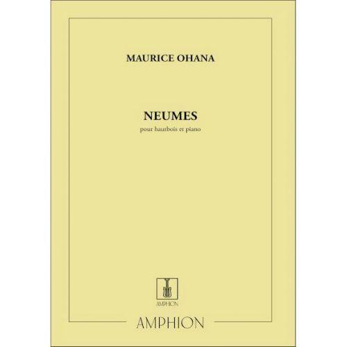 AMPHION EDITIONS OHANA - NEUMES - HAUTBOIS ET PIANO