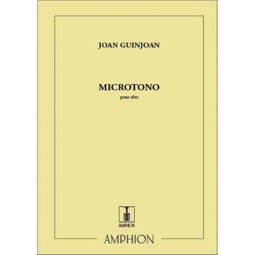 AMPHION EDITIONS GUINJOAN - MICROTONO - ALTO SOLO