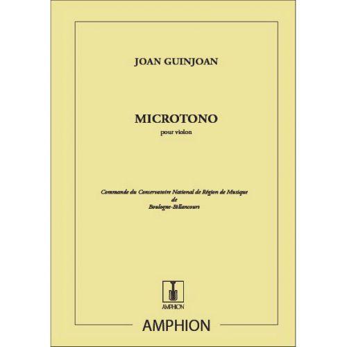 AMPHION EDITIONS GUINJOAN - MICROTONO VIOLON SEUL