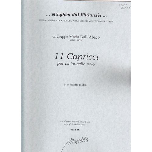 MUSEDITA DALL'ABACO G.M. - 11 CAPRICCI PER VIOLONCELLO