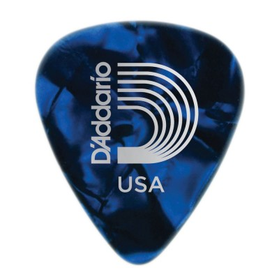 D'ADDARIO AND CO BLUE PEARL CELLULOID GUITAR PICKS HEAVY