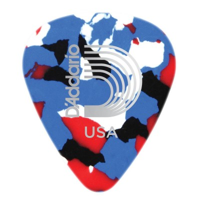 D'ADDARIO AND CO MULTI-COLOR CELLULOID GUITAR PICKS 10 PACK MEDIUM