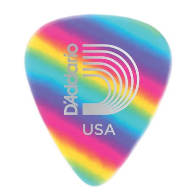 D'ADDARIO AND CO ULTRA THICK CELLULOID MEDIATORS RAINBOW PATTERN