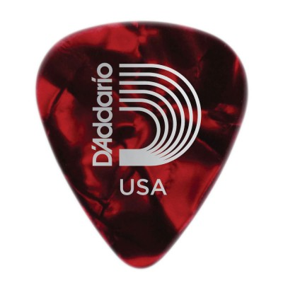 D'ADDARIO AND CO RED PEARL CELLULOID GUITAR PICKS LIGHT