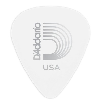 D'ADDARIO AND CO WHITE-COLOR CELLULOID GUITAR PICKS MEDIUM