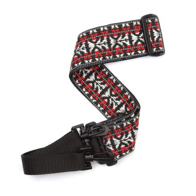 D'ADDARIO AND CO WOVEN STRAP FOR BANJO HOOTENANNY RED AND SILVERED BY D'ADDARIO