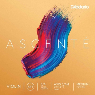 D'ADDARIO AND CO SET OF STRINGS FOR VIOLIN 3/4 ASCENTE TENSION MEDIUM