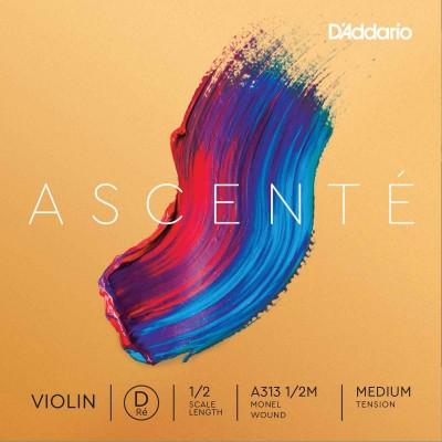 D'ADDARIO AND CO SINGLE STRING (RE) FOR VIOLIN 1/2 ASCENTE TENSION MEDIUM