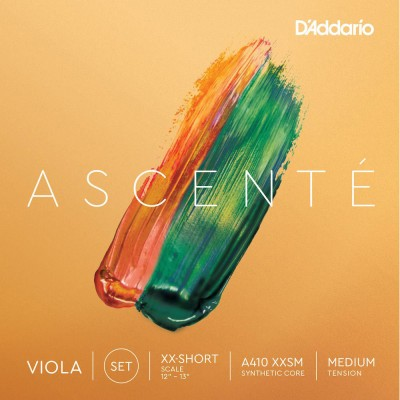 D'ADDARIO AND CO STRING SET FOR VIOLA ASCENTE ULTRA-ULTRA-SHORT PITCH MEDIUM TENSION