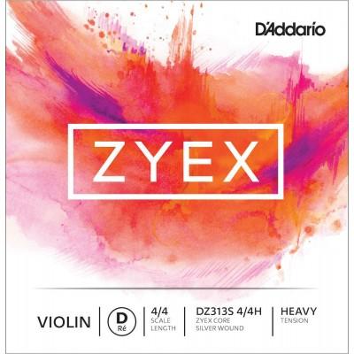 D'ADDARIO AND CO SILVER STRING (RE) FOR VIOLIN ZYEX 4/4 HANDLE HEAVY TENSION