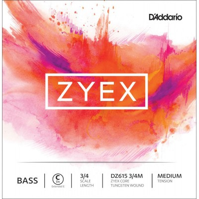 D'ADDARIO AND CO DZ615-3/4M ZYEX C STRING ONLY FOR DOUBLE BASS C 3/4 MEDIUM (1060MM)